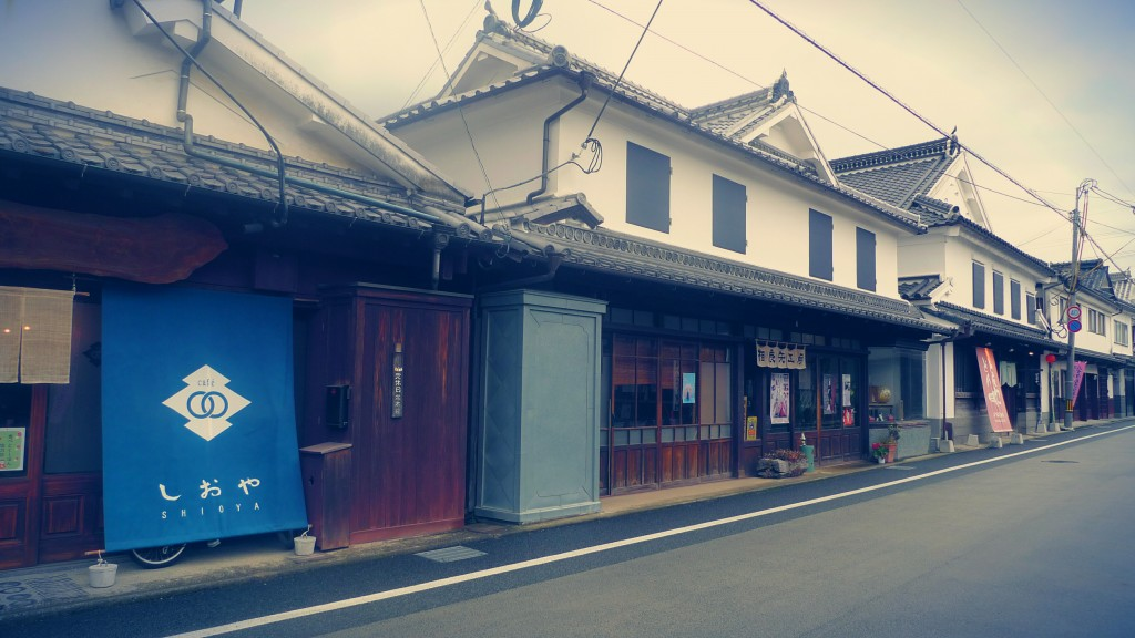 八女福島の白壁