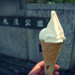 茶ぶ釜のソフトクリーム