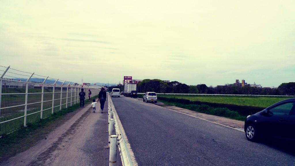 福岡空港の近く
