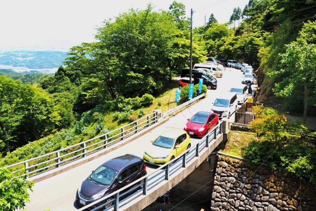 白糸の滝の渋滞