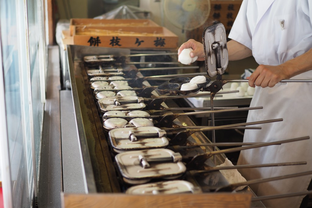 寺田屋の梅ヶ枝餅