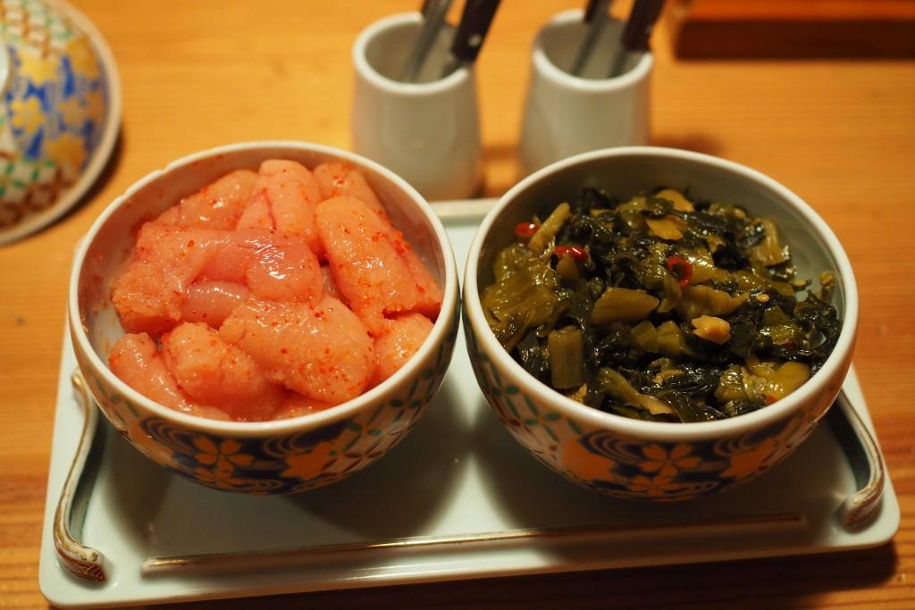 明太子と辛子高菜