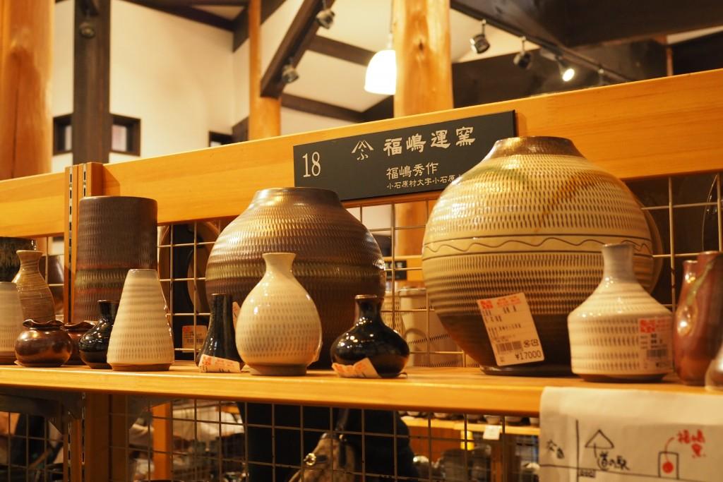 道の駅の陶器コーナー