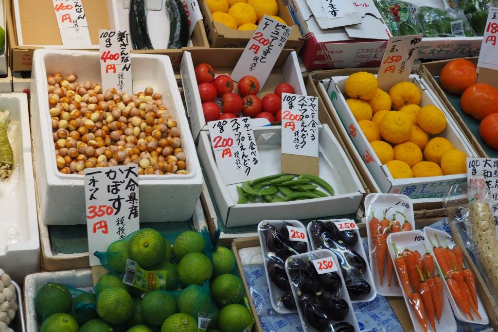 柳橋連合市場の野菜