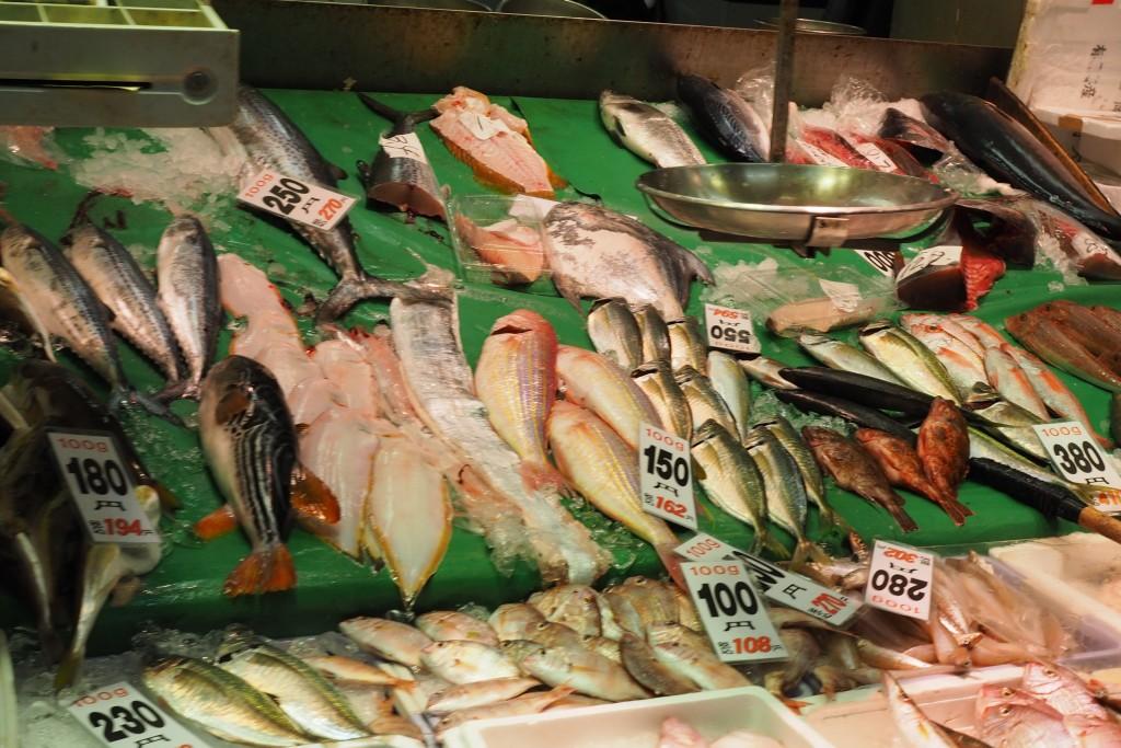 柳橋連合市場のお魚