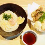 ぶっかけうどんに天ぷら和讃