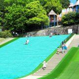 東平尾公園の草スキー
