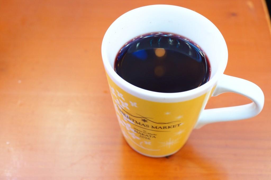 グリューワインでホッと温まる