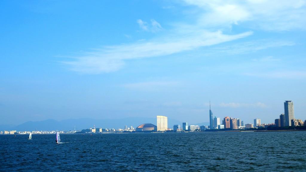 美しい福岡市の街並み