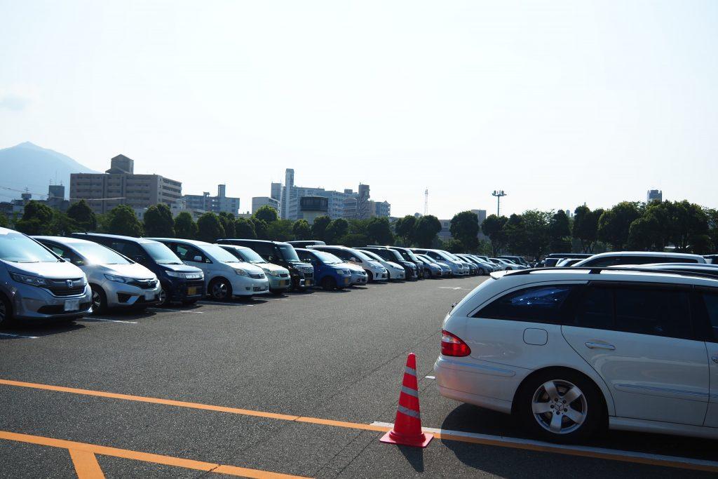 小倉競馬場の駐車場