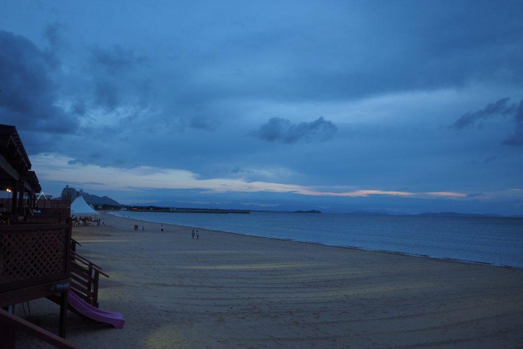 福間海岸の夜