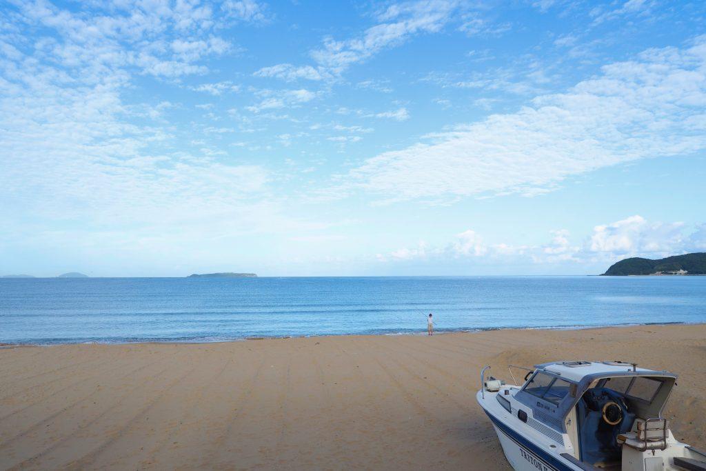 福間海岸の朝は美しい