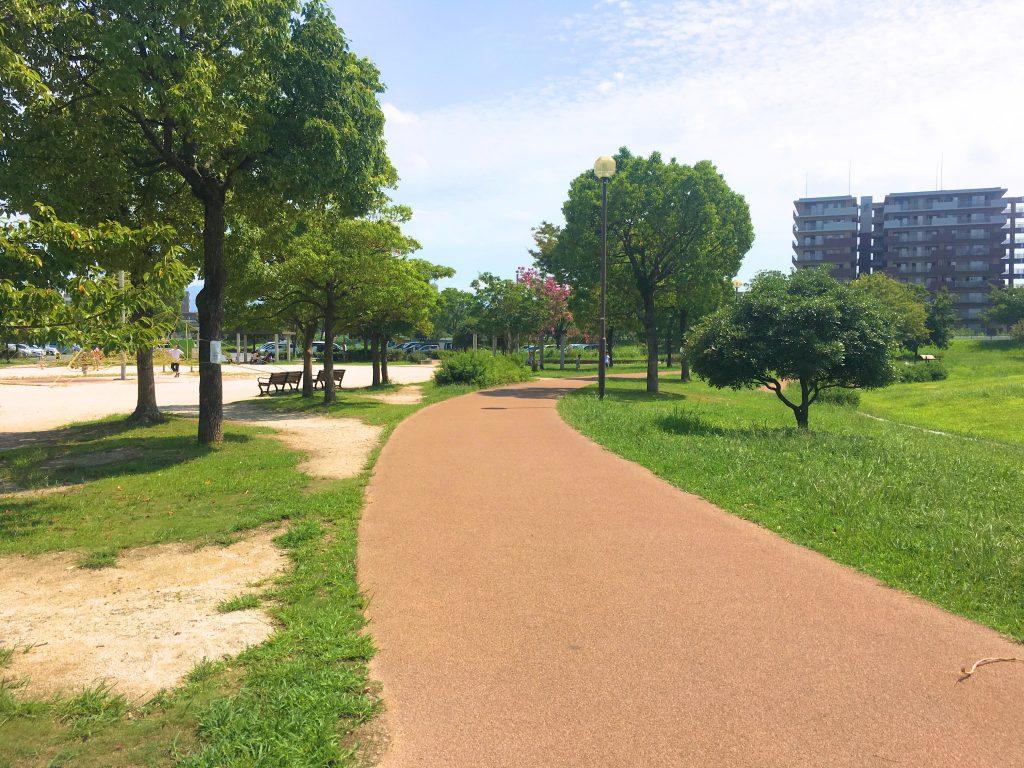 箱崎公園のジョギングコース