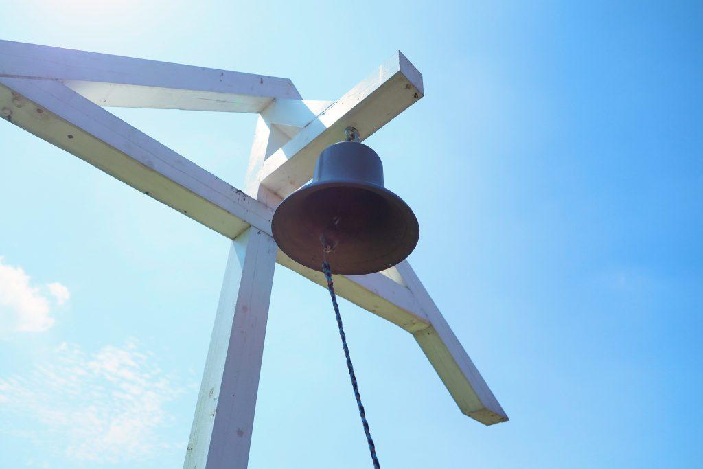 鐘がなる丘の展望台