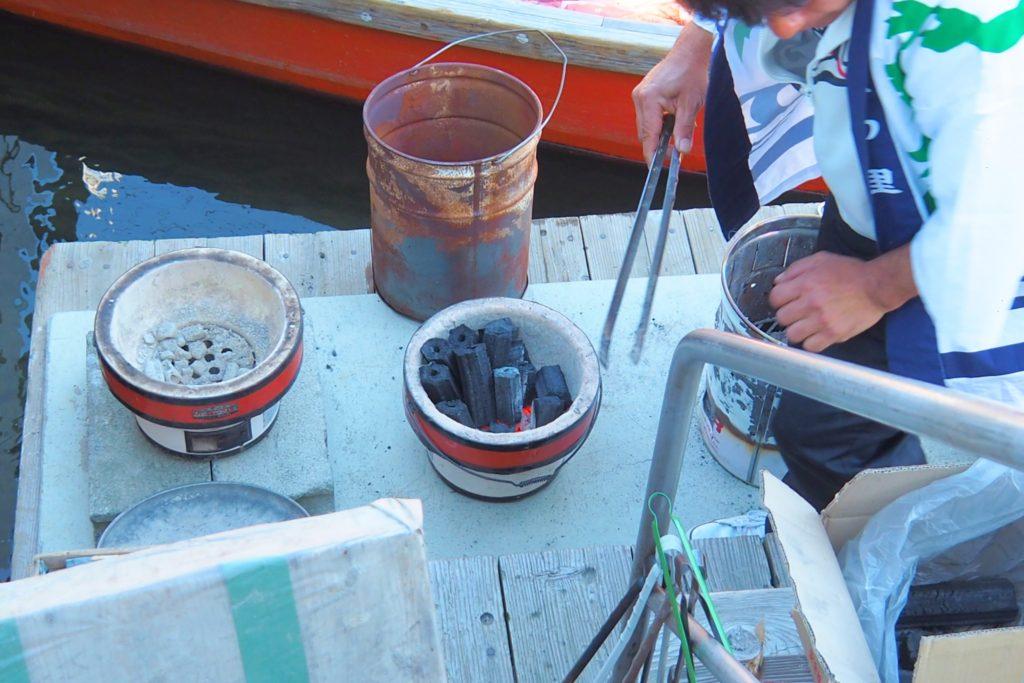こたつ舟の火鉢