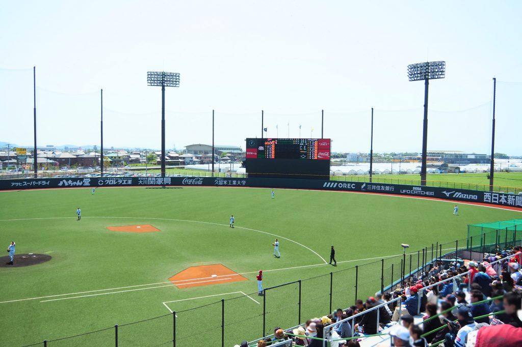 開放的なスタジアム