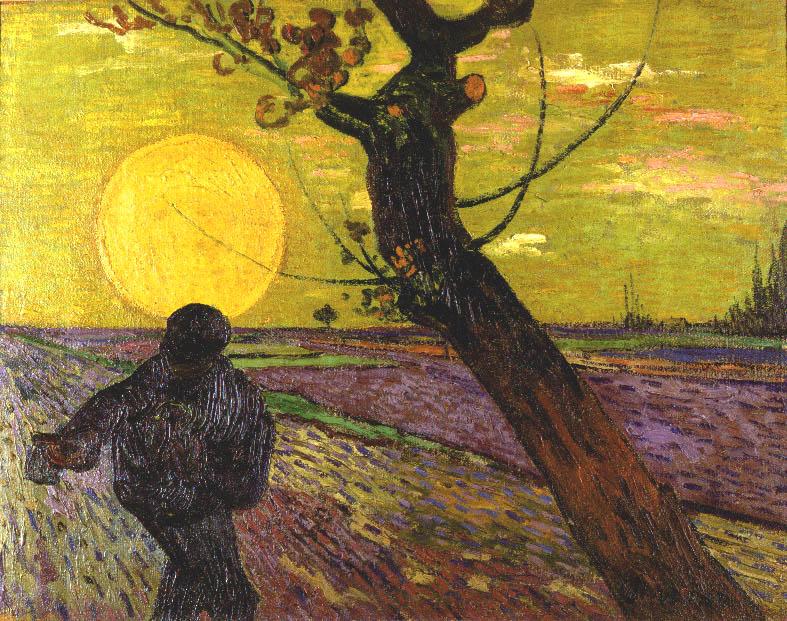 フィンセント・ファン・ゴッホ 《日没を背に種まく人》