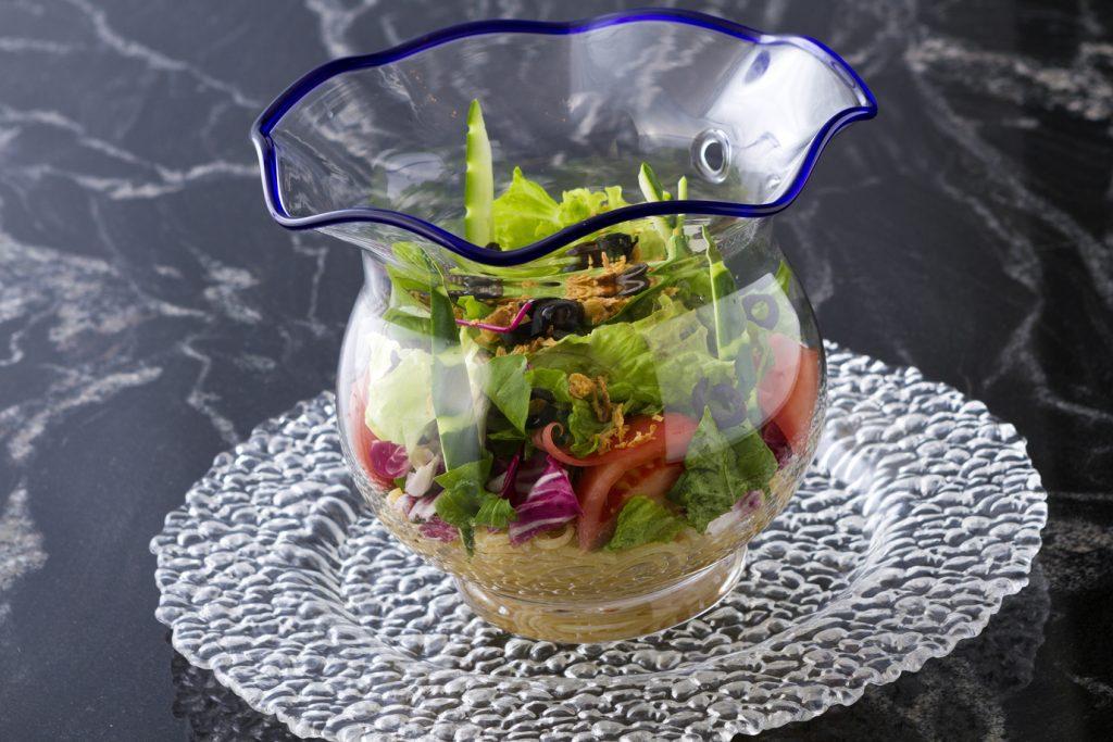 ③縁日の想い出 冷製ガーデンパスタ 金魚鉢STYLE
