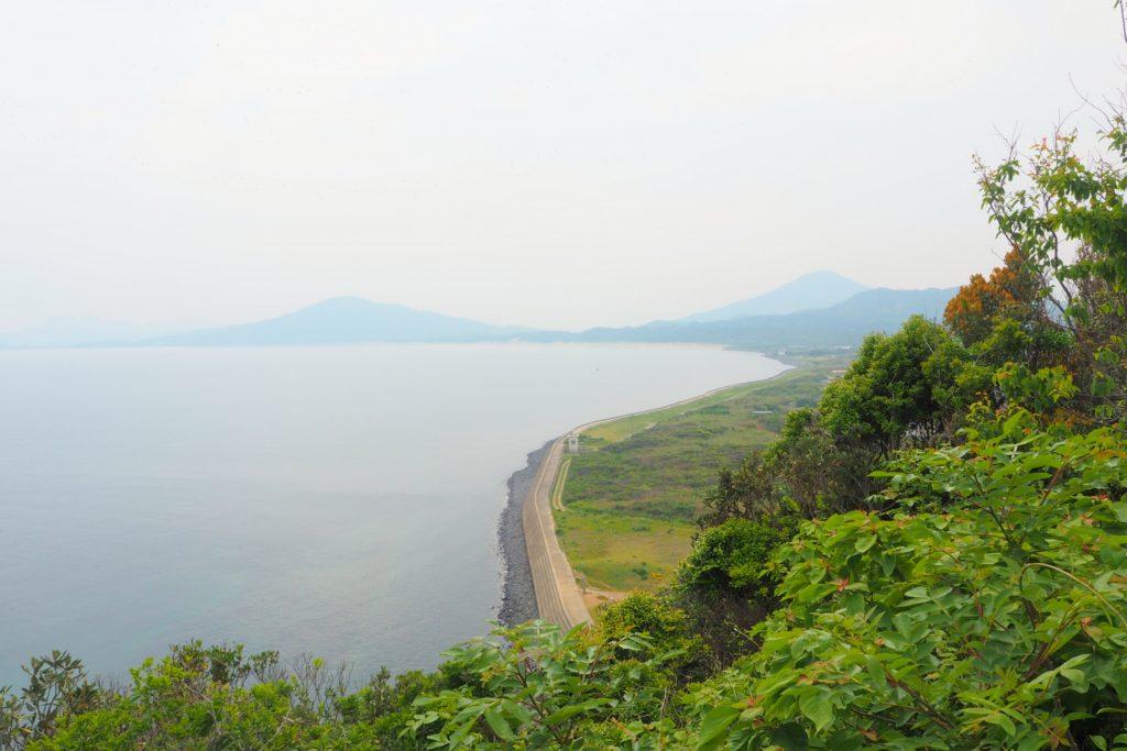 展望所から見た海岸線
