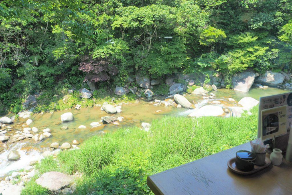 眼下に流れるきれいな川