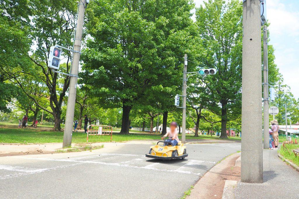 公園の中に信号機