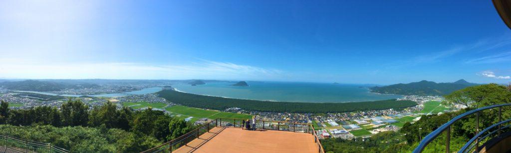 鏡山展望台からの眺め