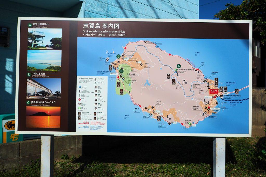 志賀島のMAP