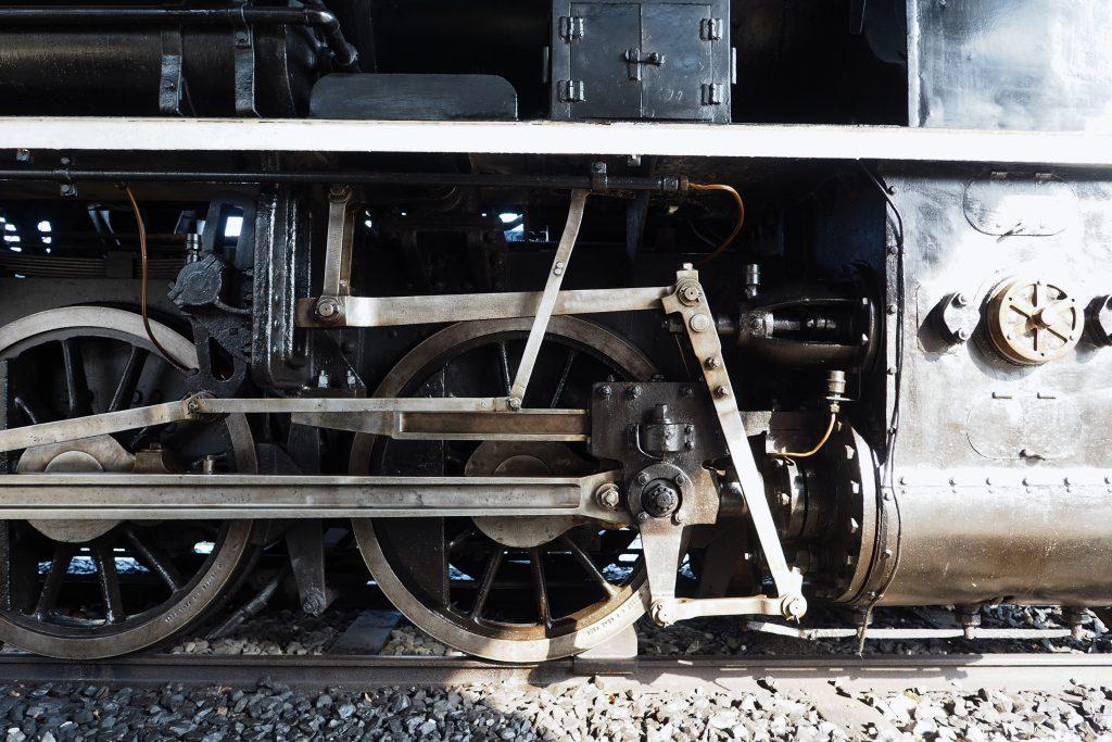 蒸気機関車の足回り