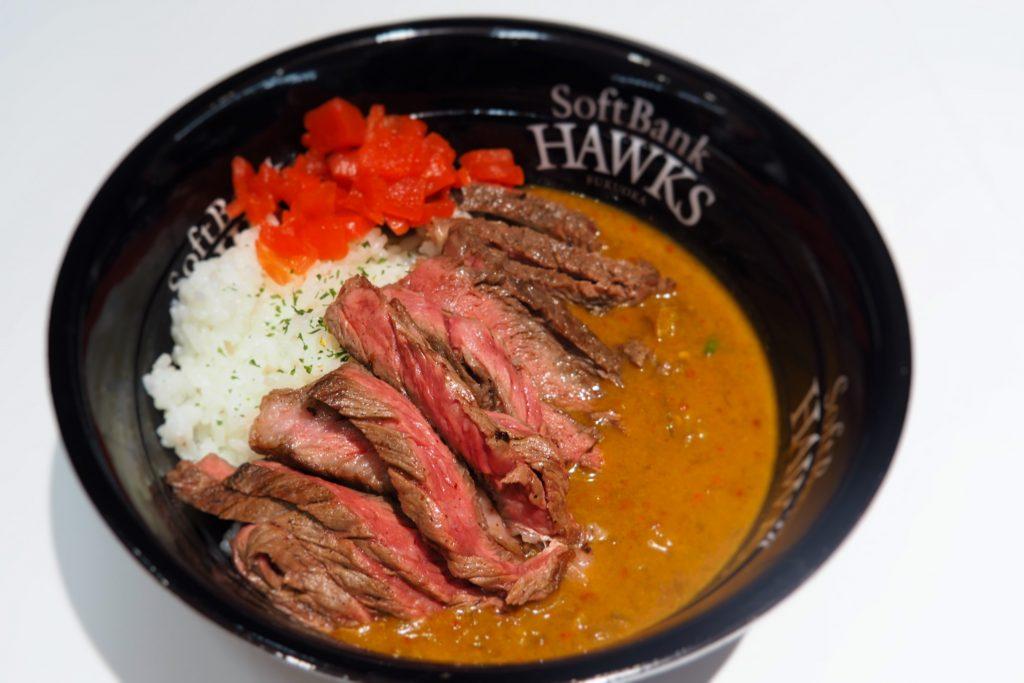 肉山 福岡の「森投手のもりもりロースステーキカレー」
