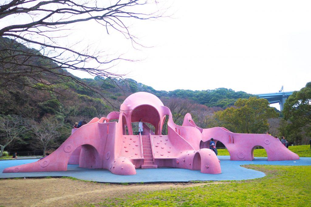 和布刈公園のタコ型遊具