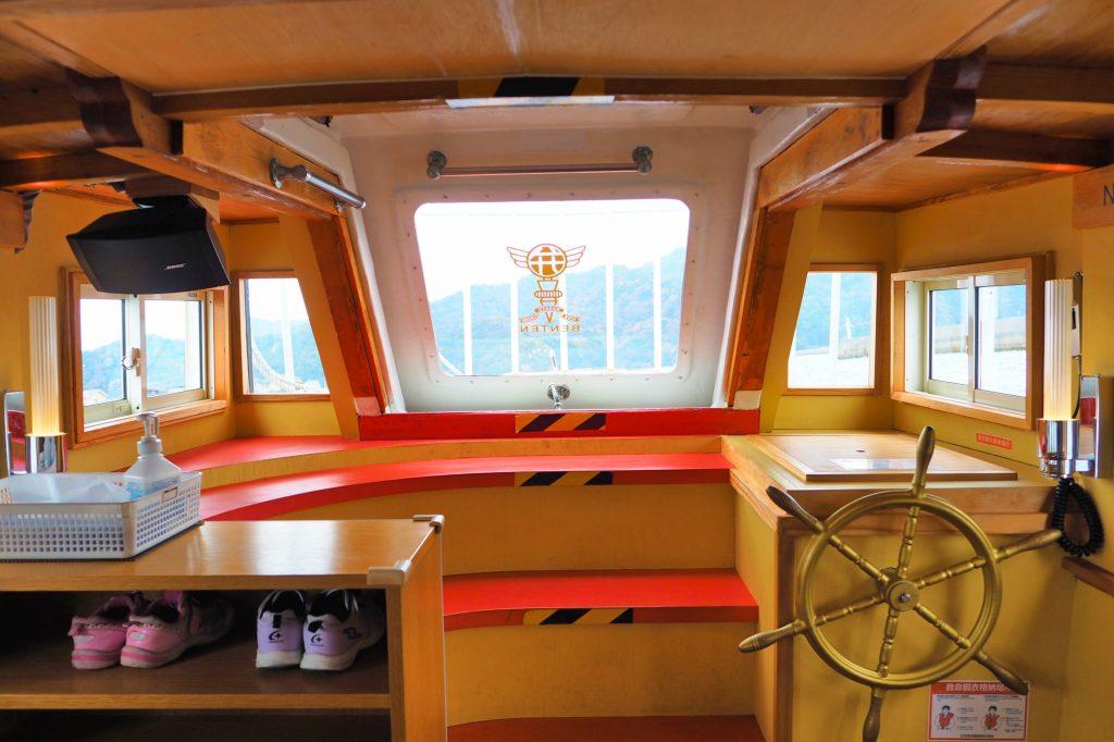 キッズクルーズ船の船内