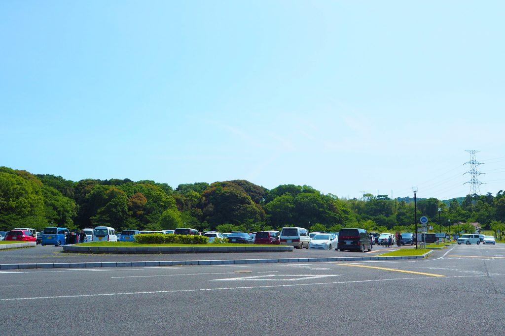 グリーンパークの駐車場