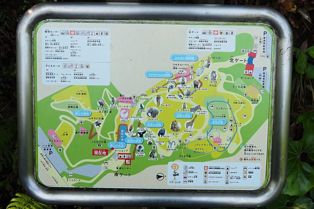 到津の森公園の園内マップ