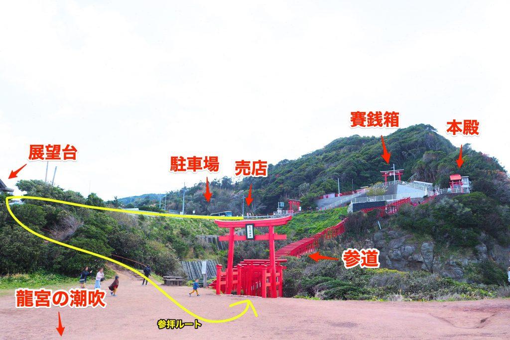 元乃隅神社のマップ