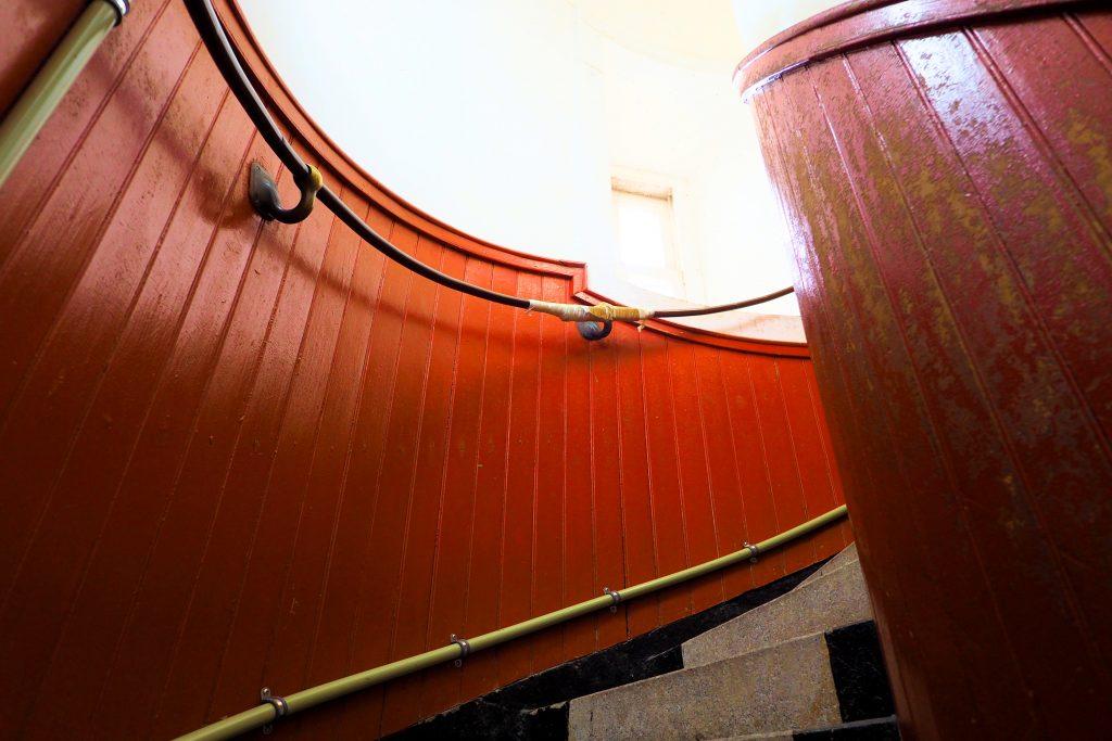 角島灯台の螺旋階段
