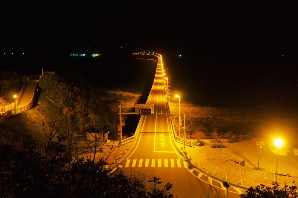 角島大橋の夜景